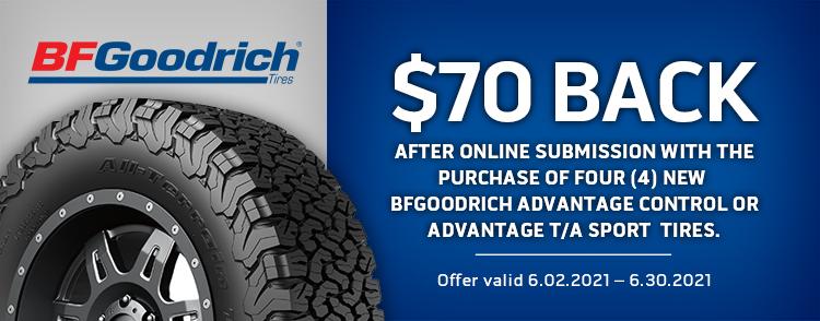 BFGoodrich Online Rebate