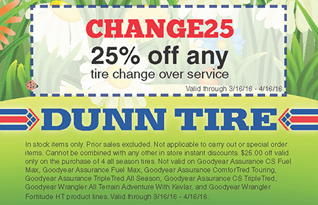 Dunn tire coupons discounts