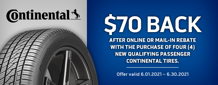 Continental Online or Mail-in Rebate