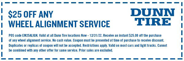 Front End Alignment Coupons >> Service Reminder Deals