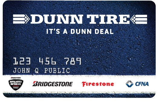 Dunn Tire Credit Card Image