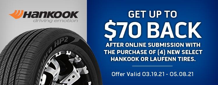 Hankook and Laufenn Online Rebate
