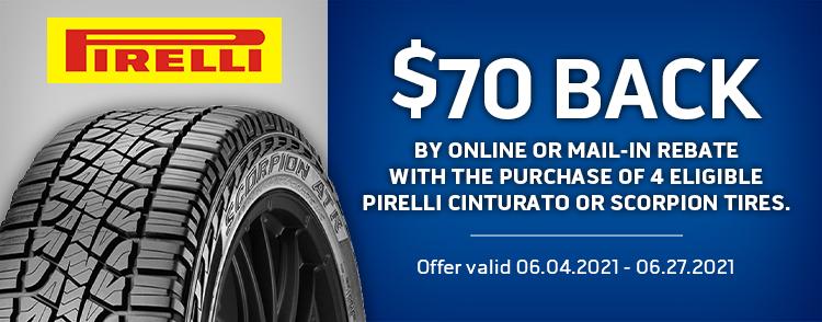 Pirelli Online Or Mail-in Rebate