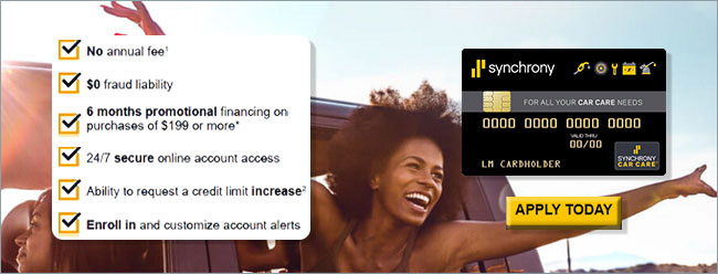 Synchrony Car Care™ credit card at Dunn Tire