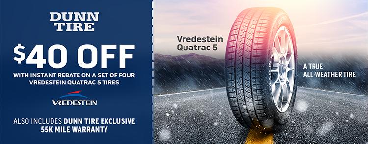 Instant Savings on Vredestein Quatrac 5 Tires!